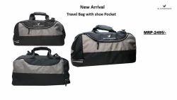 Black & grey BlackBerry travel bag