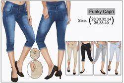 Girls Mm 21 Ladies jeans capri