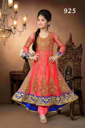 58dd9b856c4 Kids Party Wear Manufacturer in India - Kids Floor Length Gowns Exporter  from New Delhi