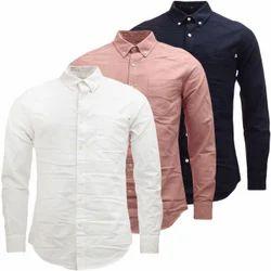 Checks Men Cotton Twill Plain Shirt, Age: 18-45