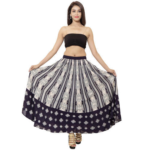 8a43bb0ae3 Long Multicolor Ladies Cotton Circle Skirt, Rs 599 /pieces   ID ...