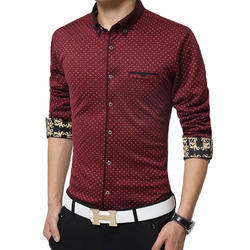 Party Wear Casual Wear Men's Printed Casual Shirt, Size: 38, Age: Mens