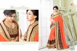 Exclusive Embroidered Designer Saree