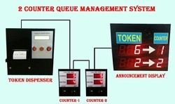 Electronic Queue Management System 2 counter