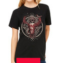 Black Cotton Ladies Fancy T Shirt