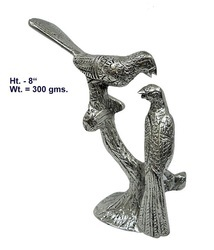 White Metal Birds Decorative Statue