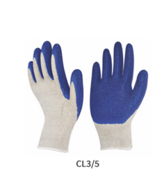 Cut Resistant Blue and White Coated Gloves
