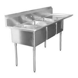 SS Table With Sink and Drainboard