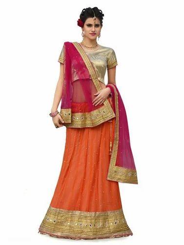 52967d365c Chanderi Kundan Work Wedding Ghagra Choli, Rs 5295 /piece   ID ...