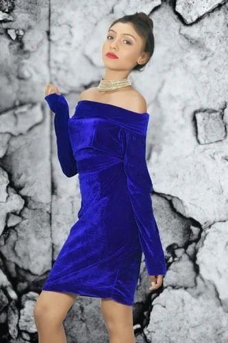 5e834d68fddb Royal Blue SPOCCI Off Shoulder One Piece Dress