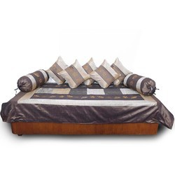 Jaipuri Silk Cushion Bolster Dewan Set 303