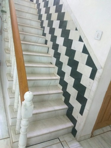 Lovely Agriya White Marble Staircase