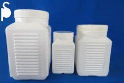 Ribbed Plastic Square Jars