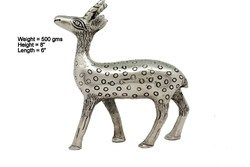 White Metal Deer Statues