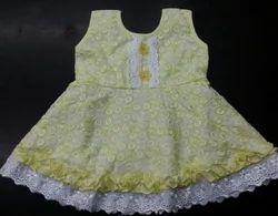 Sleeveless Cotton Baby Frock