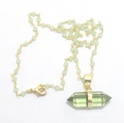 Green Amethyst Pendants