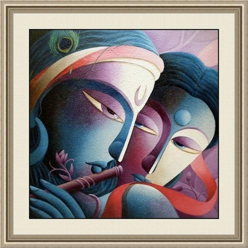 Abstract Radha Krishna Painting At Rs 900 /piece