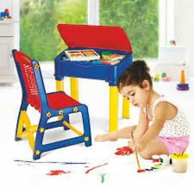 Portable Plastic Study Table with Chair
