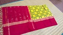 Pure Ikkat Cotton Silk Saree