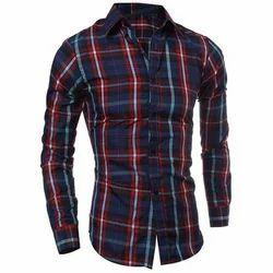 Cotton Checked Boy Checkered Shirt