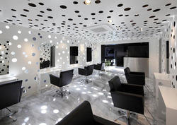 Salon interior designing beauty parlour interior work in for Salon decor international kolkata west bengal