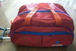 Multicolor Red Trolley Bag