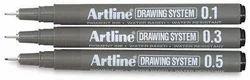 Black Blue Artline Drawing Pen, Packaging Type: Standard