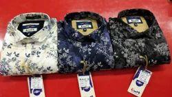 Knot9 Printed cotton satin shirts