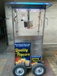 Mobile Pop Corn Machine Gas Operated