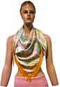 Satin Digital Printed Poncho