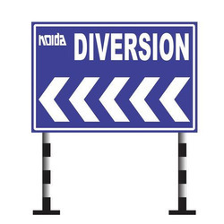 Retro Reflective Diversion Sign Boards