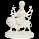 Maa Durga On Lion In Resin Durga Lion