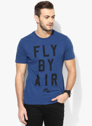 7ccec4525e9d T-Shirts - Nike As Air Fly By Blue Round Neck T-shirt Retailer from ...
