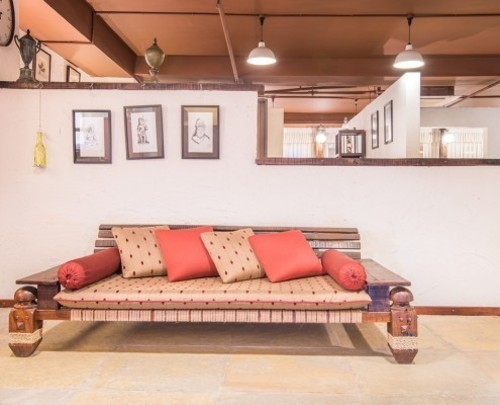Wooden Sofa Indian Baithak Living Room Furniture Manufacturer From Chinchwad