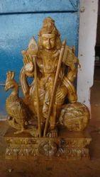 Burma Teakwood 2 Feet Lord Murugar Statues
