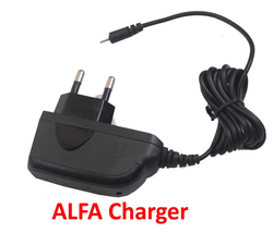 Black Alfa Mobile Charger Adapter, For Charging