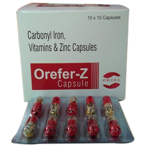 Carbonyl Iron Vitamin and Zinc Capsules, for Vitamin Deficiency