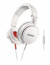 Philips Headband Headphones DJ Monitor Style White