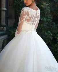 White, Half White Fancy Bridal Gown