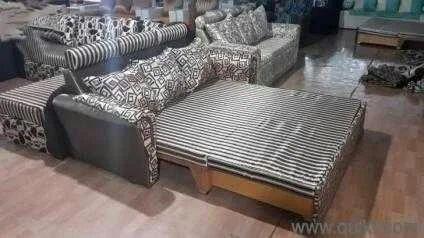 Awe Inspiring Wooden Sofa Cum Bad Interior Design Ideas Skatsoteloinfo