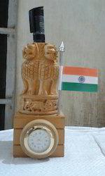 Watch Wooden Ashoka Pillar Pen Stand