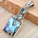 925 Sterling Silver Abalone Sterling Silver Pendant