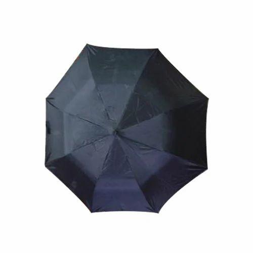 8b36871b3 Polyester Plain Black Umbrella, Rs 75 /piece, Durga Umbrella | ID ...