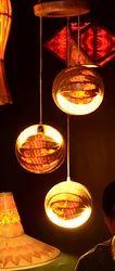 Multiple Wooden Hanging Balls
