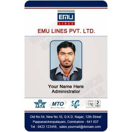 Plastic Employee Id Card At Rs  Piece  Employee Id Card  Global