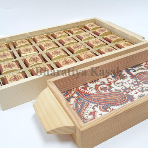 Rectangular, Square Brown Wooden Tray