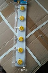 Plastic White Wall hooks, Stainless Steel