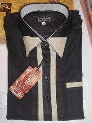 2-Piece Suit Festive Black Printed Pathani Suits