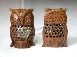 Wood Dark Brown Owl
