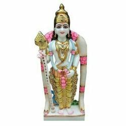 Murugan Swamy marble statue
